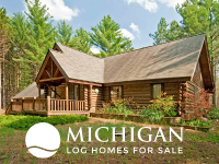 michigan log cabin homes for sale